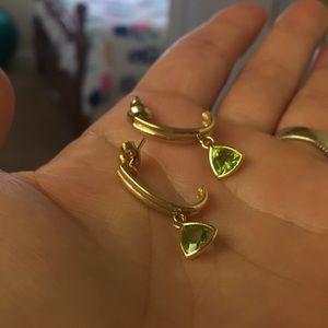 Jewelry - EUC 14K Gold Peridot Dangle Earrings